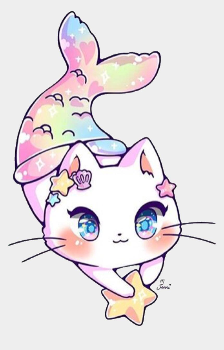 cute baby mermaid clipart, Cartoons - Cat Mermaid