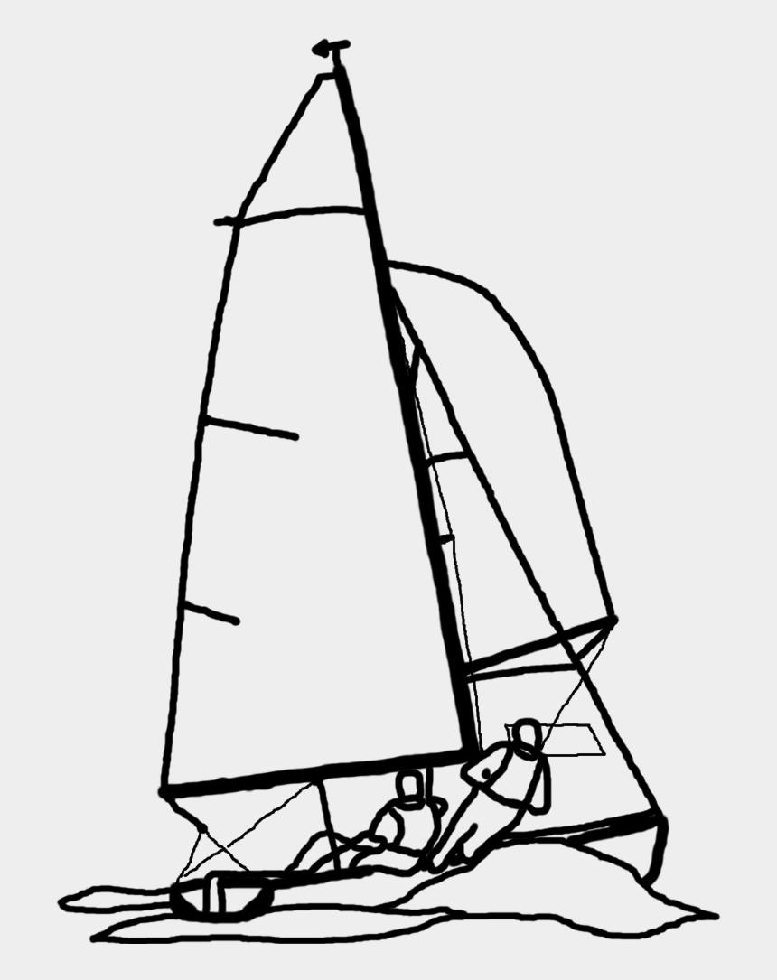 sailboat clipart sketch, Cartoons - Dinghy Sailing