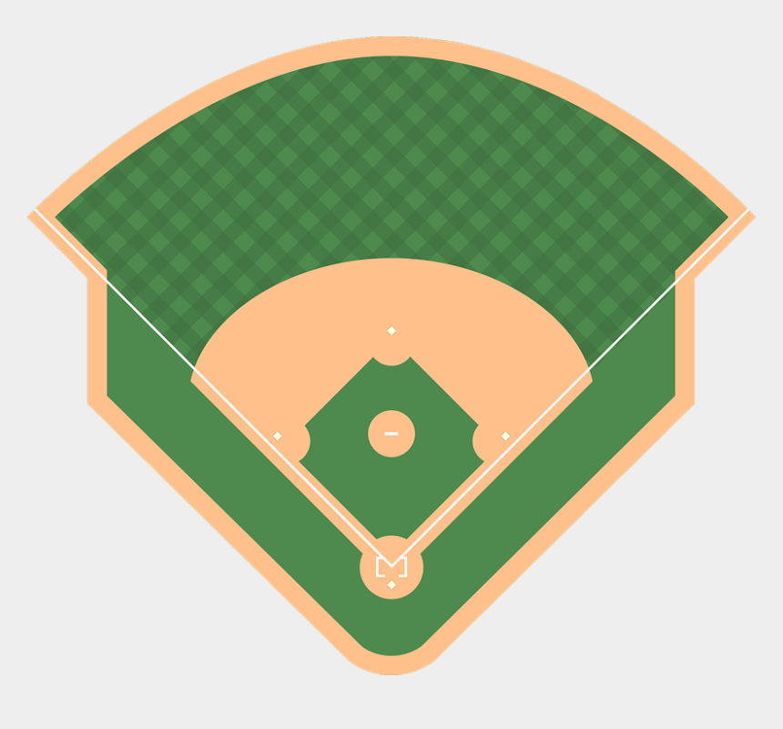baseball stadium lights clipart, Cartoons - Baseball Diamond Clipart Transparent