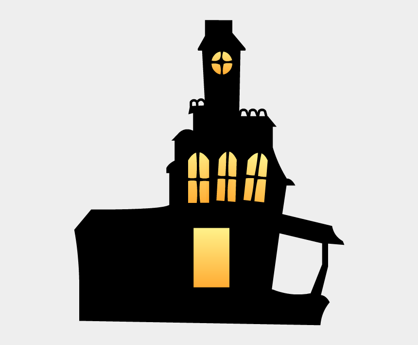 halloween mansion clipart, Cartoons - Haunted House Cardboard Backdrop