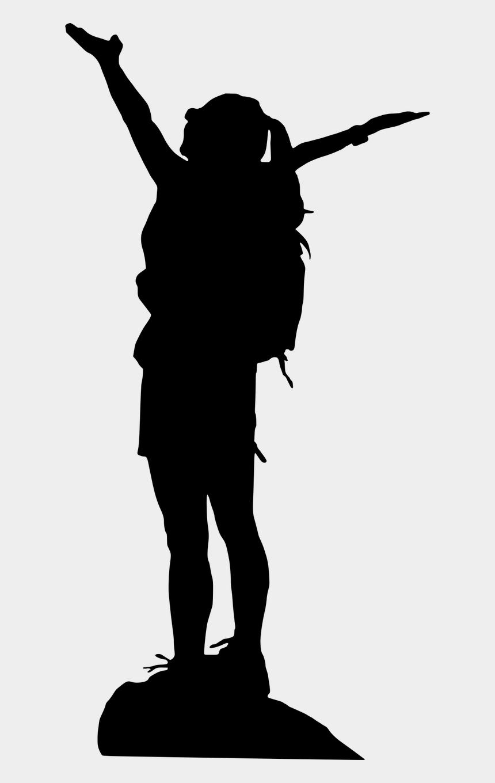 female hiker clip art, Cartoons - Woman Silhouette Climbing Mountain