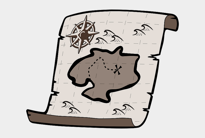 pirates map clipart, Cartoons - Treasure Map Vector