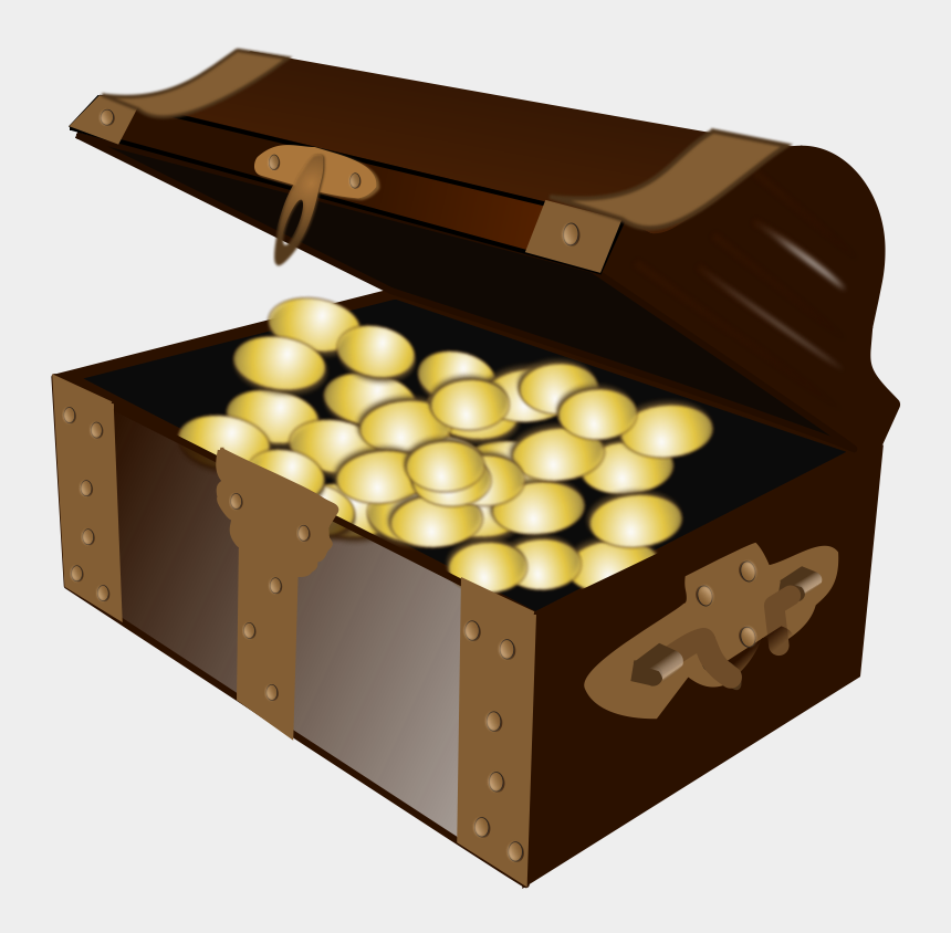 pirates map clipart, Cartoons - Cartoon Treasure Chest Png Open