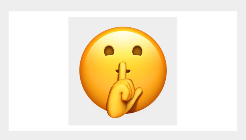 shh emoji clipart, Cartoons - Iphone Shh Emoji
