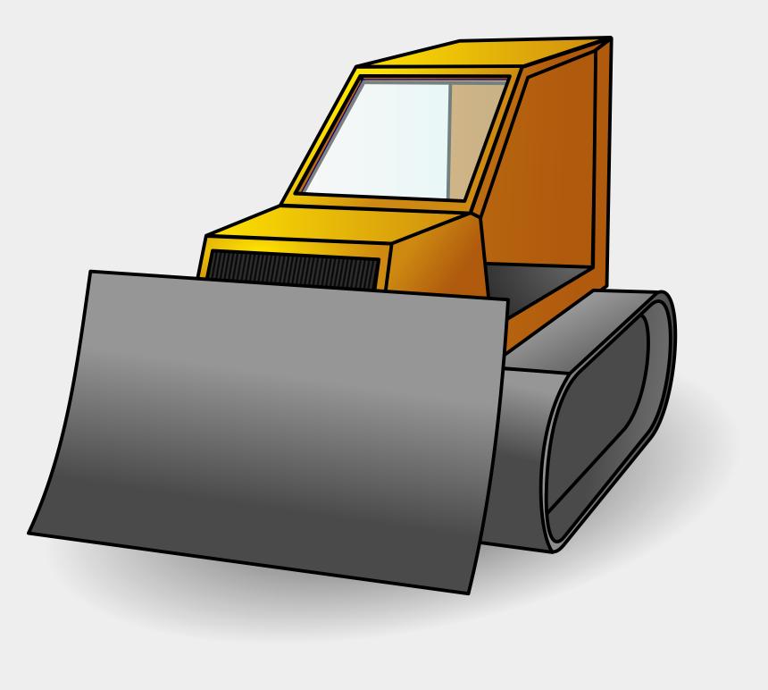 clipart.com, Cartoons - Image Black And White Stock Backhoe Clipart Machine - Gambar Kartun Bulldozer
