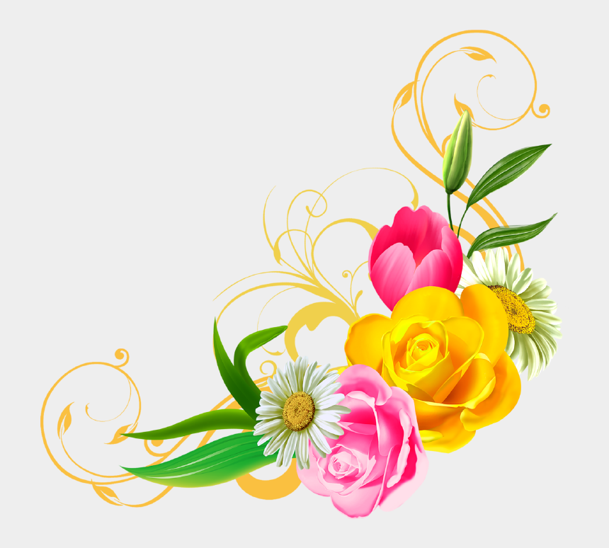 floral clipart, Cartoons - Blogwp - Corner Flower Png