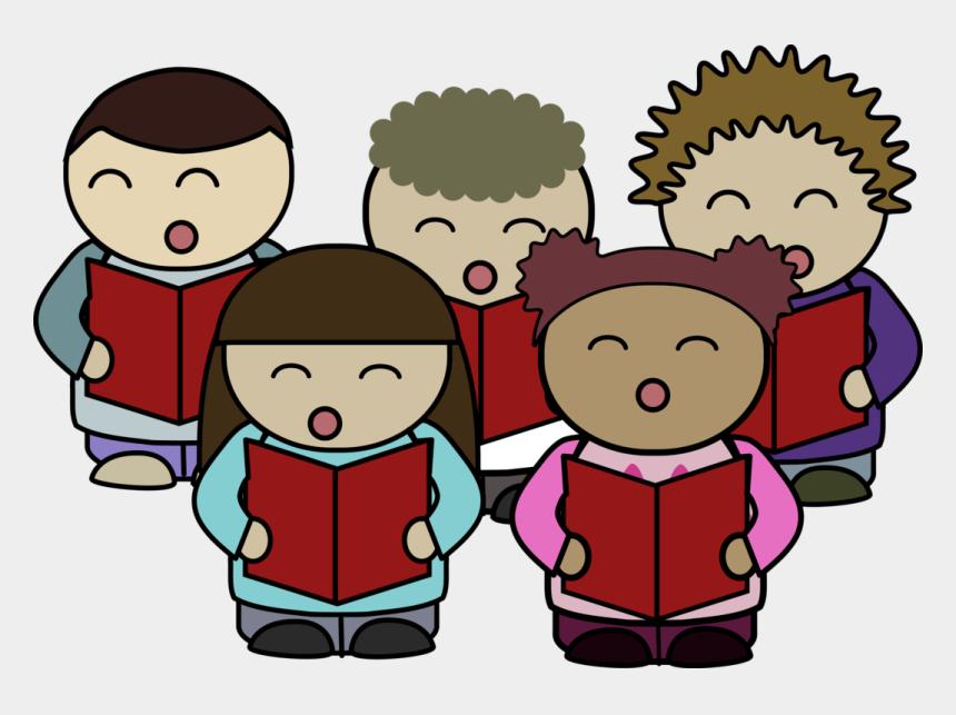 public domain clipart, Cartoons - Church Choir Clip Art - People Singing Clipart