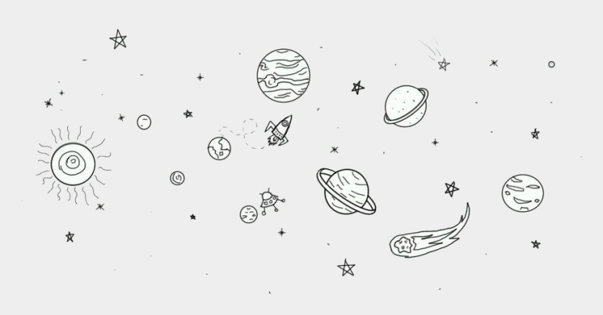 galactic starveyors clip art, Cartoons - Drawing Chalk Outer Space - Simple Space Tattoo Drawing