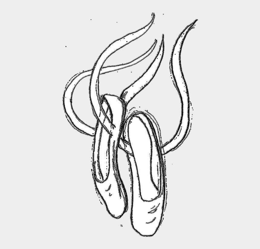 ballet shoes clip art, Cartoons - Ballet Shoes Clipart - Pointe Shoe Clipart Black And White