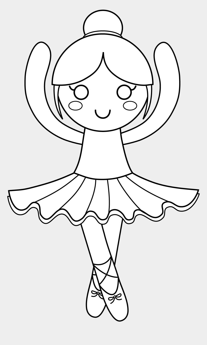ballet shoes clip art, Cartoons - Ballet Clipart Outline - Cute Ballerina Coloring Pages