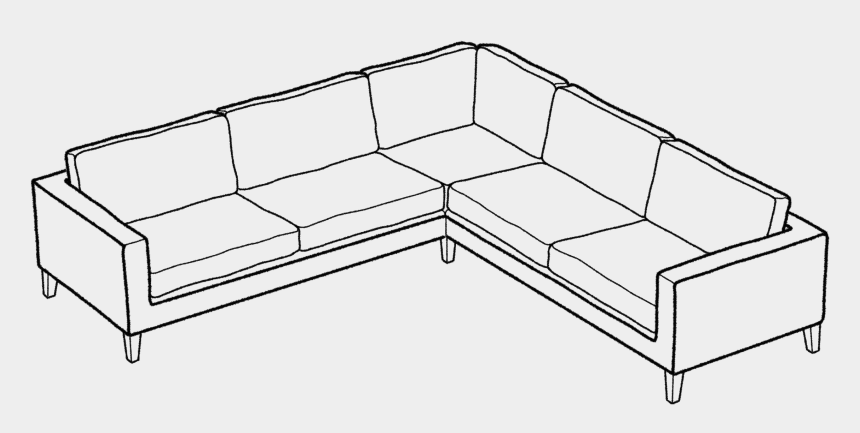 sofa clipart, Cartoons - Simple Couch Drawing At - Corner Sofa Line Drawing