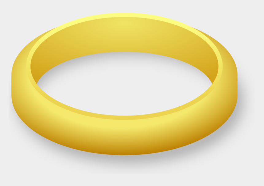 interlocking wedding rings clip art, Cartoons - Gold Ring Clipart