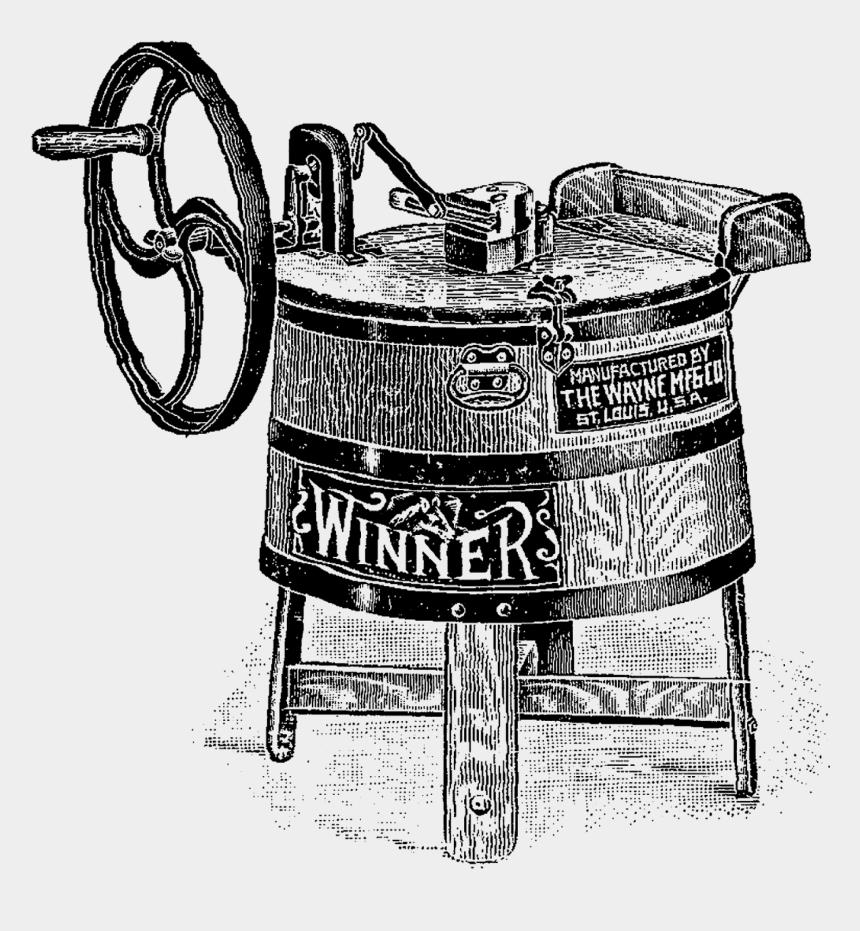 washing machine clipart, Cartoons - Digital Image Transfer Of Vintage Washing Machine Clip - Illustration