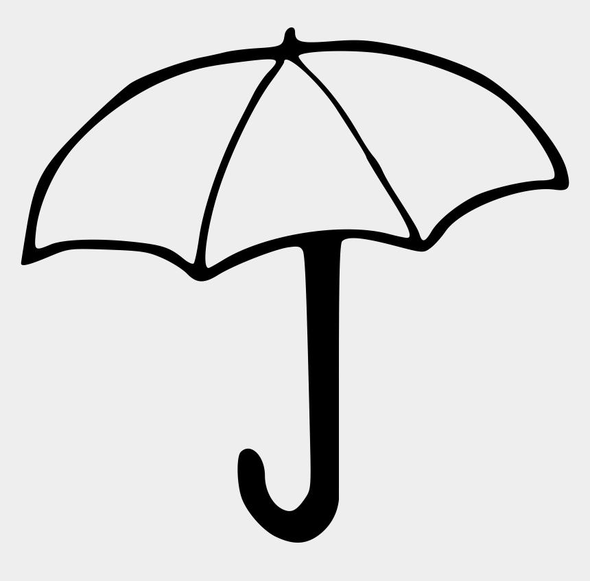 line clip art, Cartoons - Umbrella Black And White Umbrella Clipart Black And - Clip Art Of Umbrella