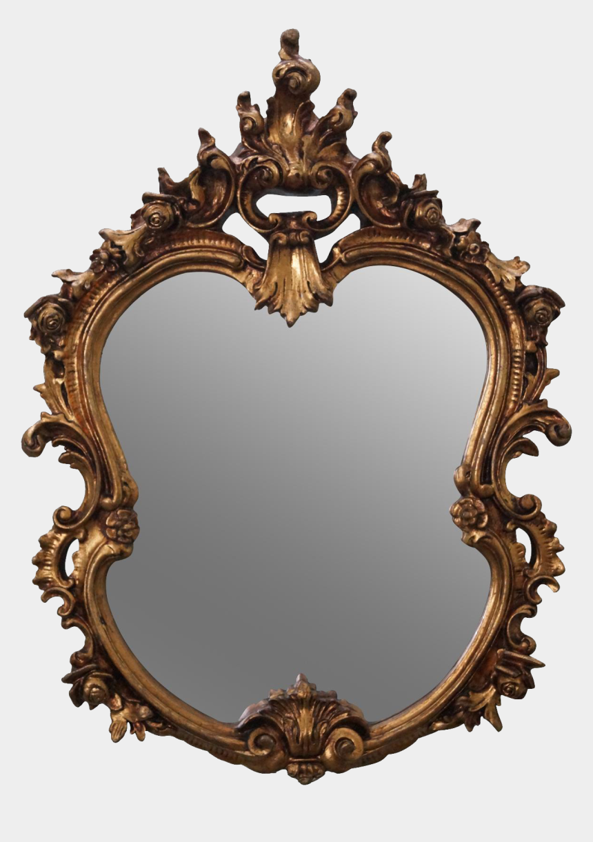 mirror clip art, Cartoons - Victorian Clip Art - Ornate Gold Frame Mirror Png
