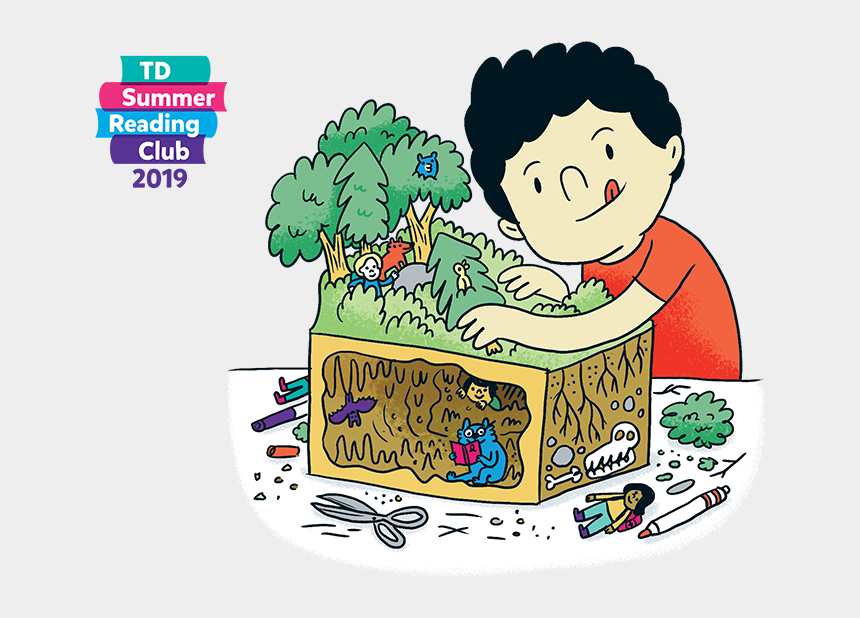 where the wild things are clip art, Cartoons - Colourful Summer Reading Club Graphic Of Children And - Club De Lecture Td 2019