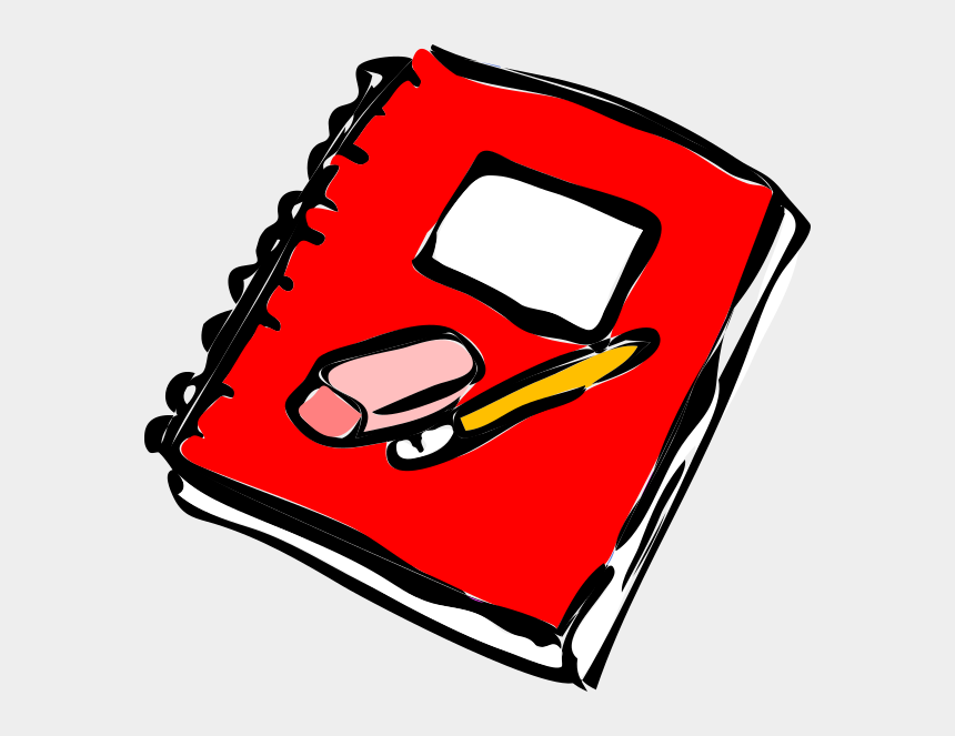 hypothesis clipart, Cartoons - Red With Pencil Clip - Notebook Clipart