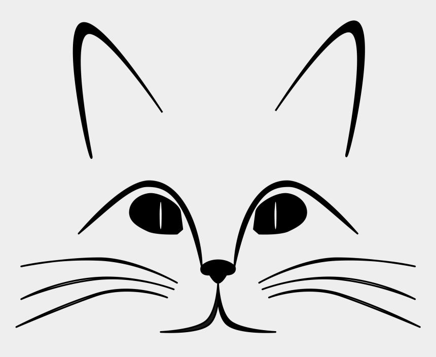 pete the cat clipart, Cartoons - Cat Black And White Cat Clip Art Black And White Free - Sense Organs Of Animals