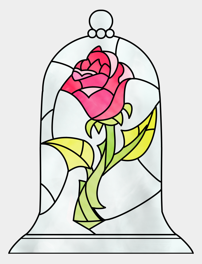 beauty and the beast clipart, Cartoons - Would Love A Tattoo Of The Beauty And The Beast Rose - Beauty And The Beast Rose Transparent