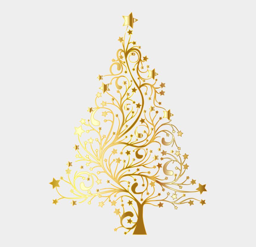 christmas ornament clip art, Cartoons - Christmas Tree Christmas Ornament Clip Art Christmas - Gold Christmas Tree Clipart
