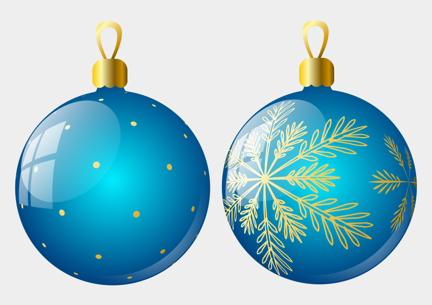christmas ornament clip art, Cartoons - Transparent Two Blue Christmas Balls Ornaments Clipart - Christmas Tree Ornaments Png