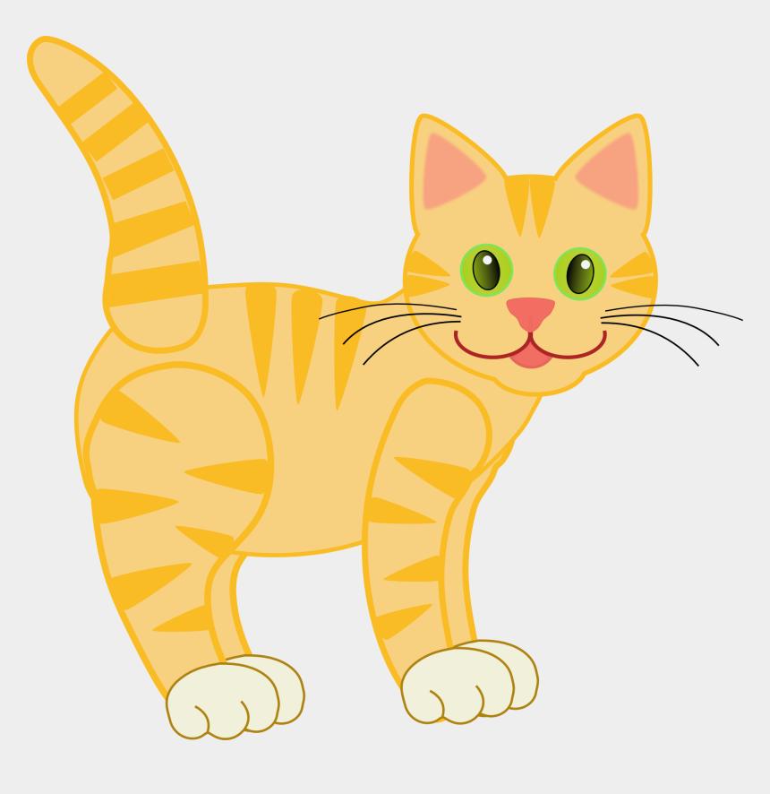 pete the cat clipart, Cartoons - Yellow Tiger Cat - Cat Clipart