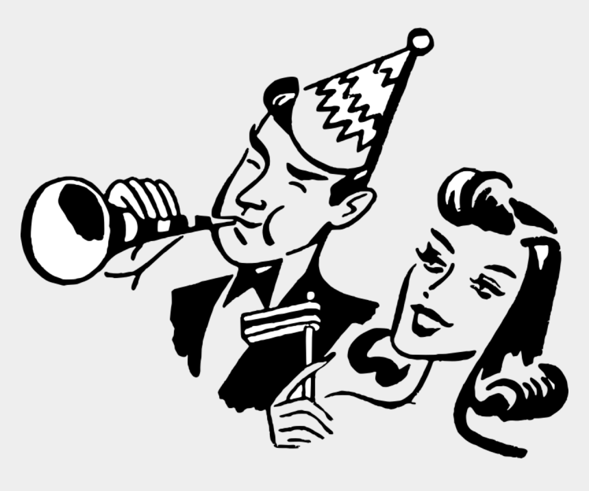 new years eve clipart, Cartoons - Year Eve Clipart Eve Party - New Year Clipart Black And White