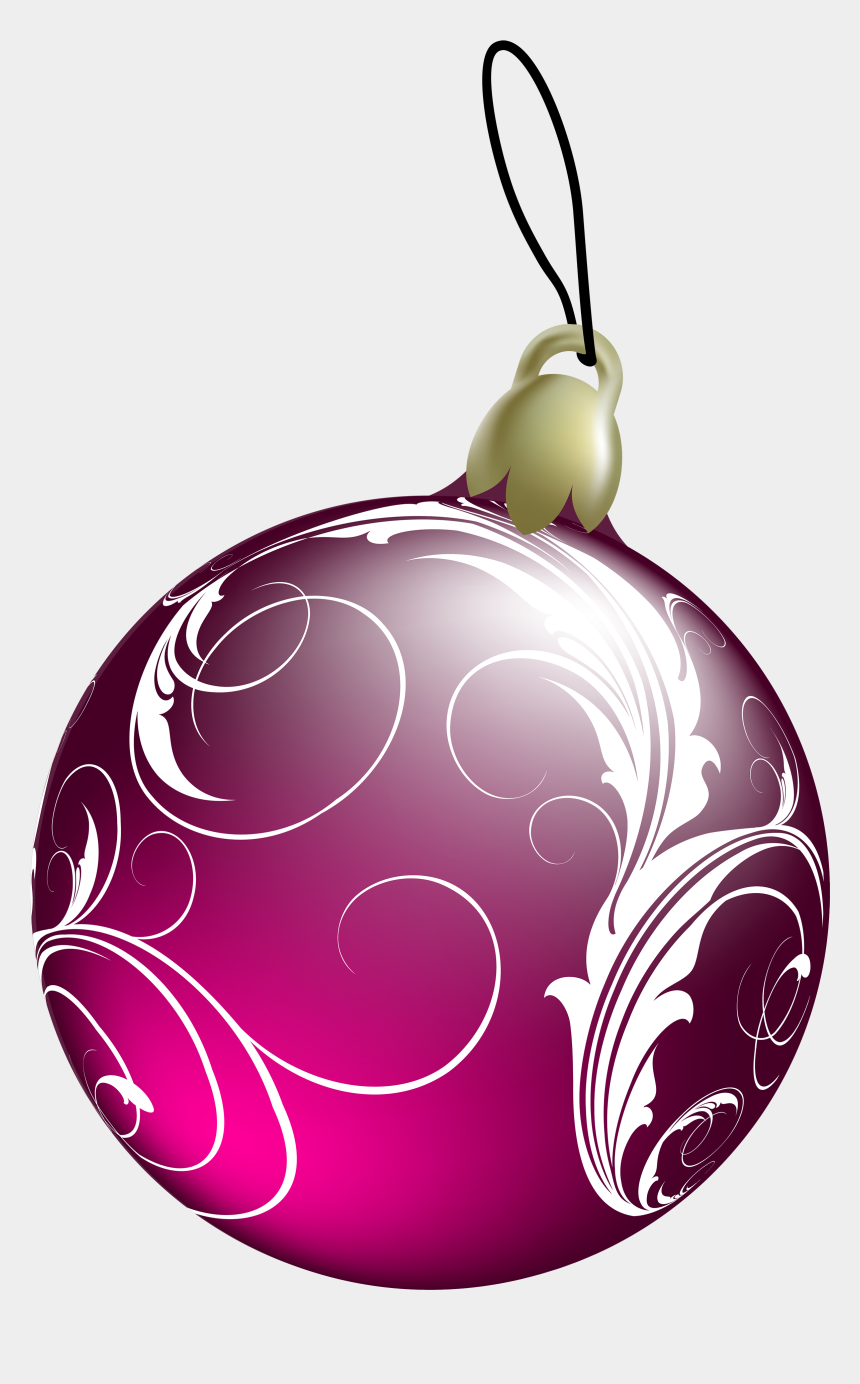 christmas ornament clip art, Cartoons - Pink Christmas Ornament Png - Christmas Ball Pink Png