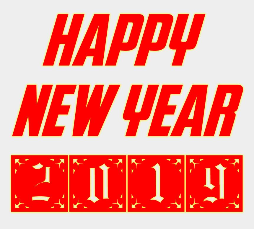 new years eve clipart, Cartoons - Letters Happy New Year Clipart - Happy New Year Png 2019