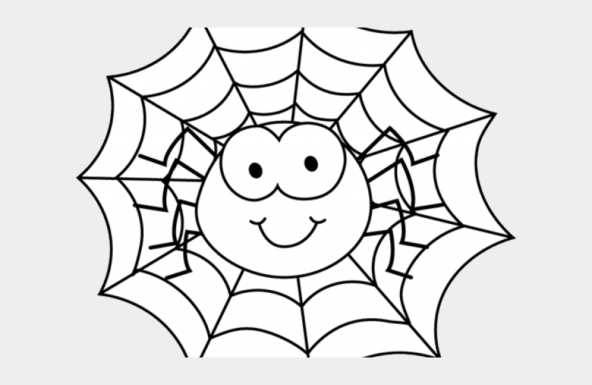 spider web clipart, Cartoons - Spider Clipart Web - Spider Black And White Clip Art