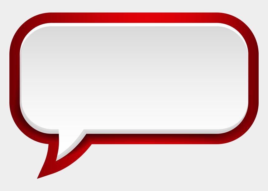 speech bubble clipart, Cartoons - Speech Bubble Clipart Transparent Background - Red Speech Balloon Png