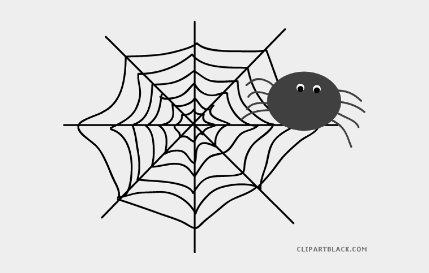spider web clipart, Cartoons - Web Clipart Gray Spider - Web Clipart Black And White