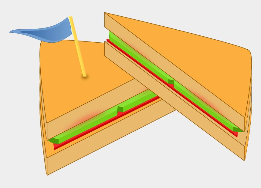 sandwich clipart, Cartoons - Fast Food, Breakfast, Sub Sandwich Clipart, Vector - Two Sandwich Clipart