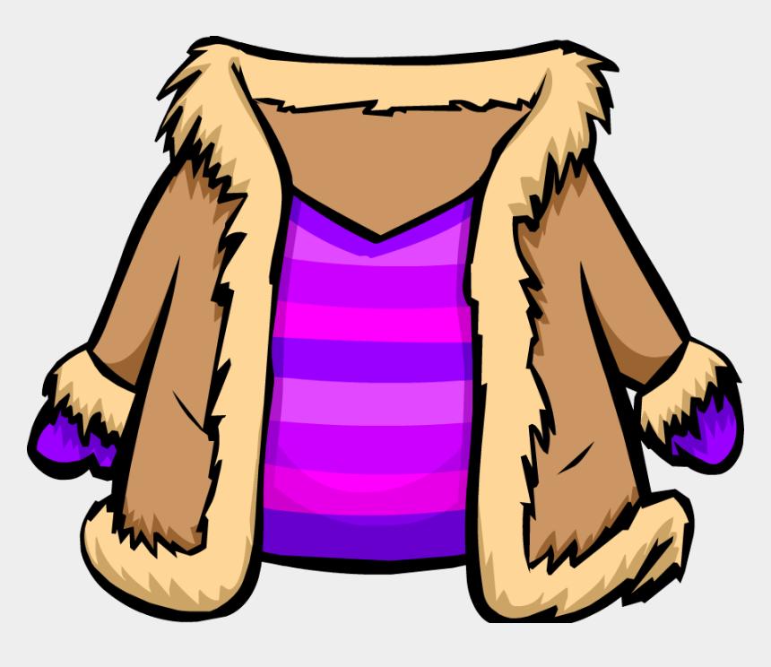 jacket clipart, Cartoons - Fur Coat Png - Club Penguin Winter Coat