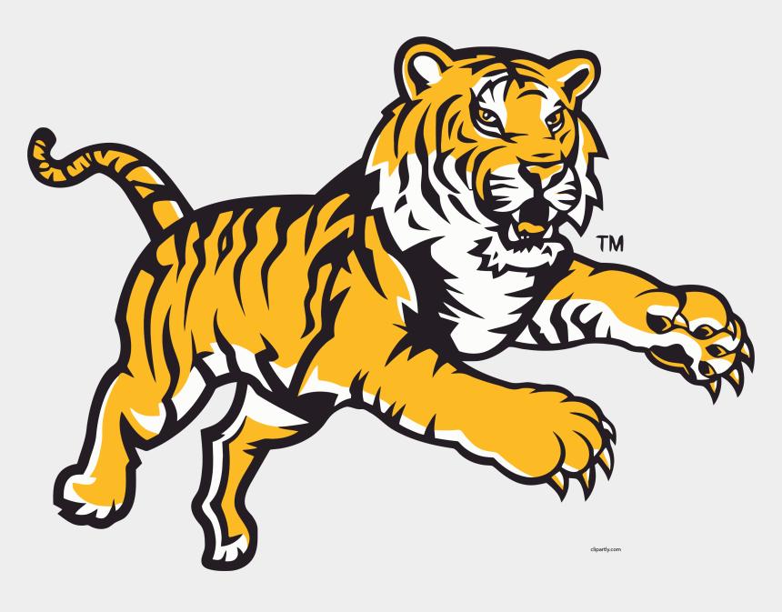 jump clipart, Cartoons - Angry Tigger Attack Jump Clipart Png - Lsu Tigers Logo