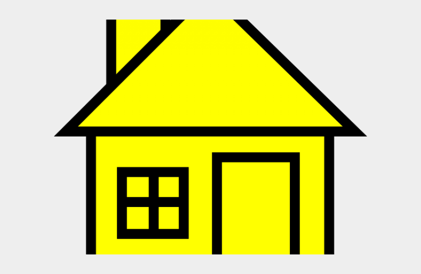haunted house clipart, Cartoons - House Clipart Yellow - House Clip Art Black And White