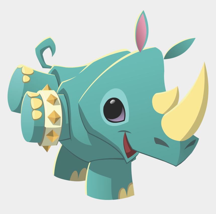 jam clipart, Cartoons - Rhino Wearing Spike - Animal Jam Pet Rhino