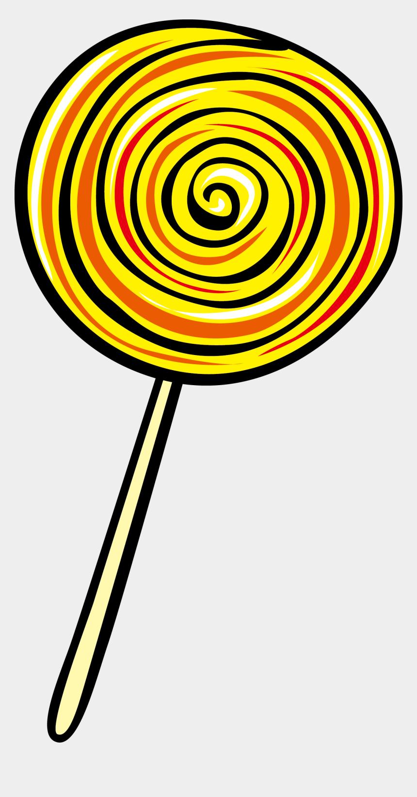 lollipop clipart, Cartoons - Lollipop Clipart Png - Yellow Lollipop Clipart