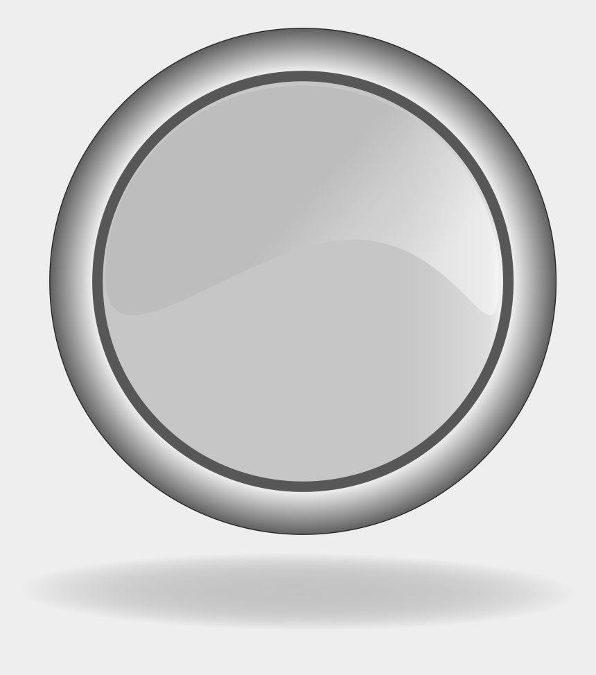 button clipart, Cartoons - Icon Of The Grey Button Clipart - Circle Button Gray Png