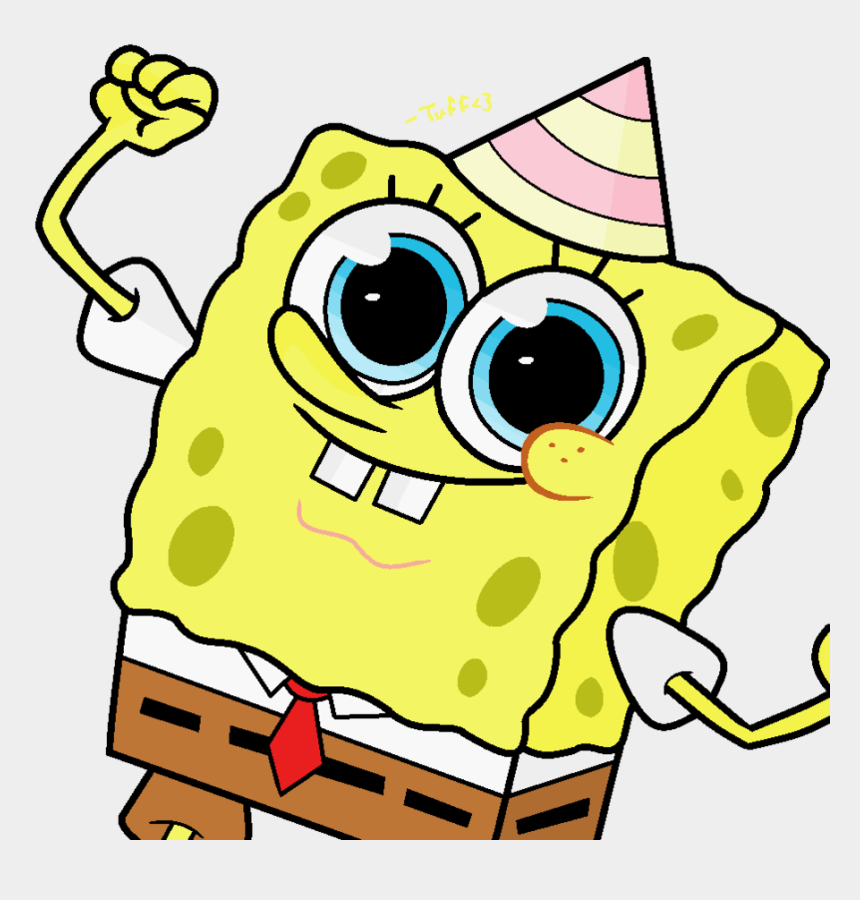 birthday hat clipart, Cartoons - Birthday Hat Clipart Spongebob - Spongebob Happy Birthday