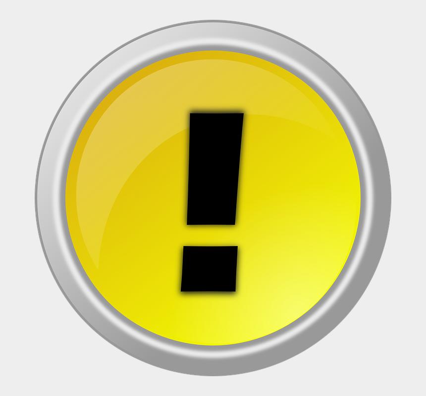 button clipart, Cartoons - Download - Signo De Alerta Gif Png