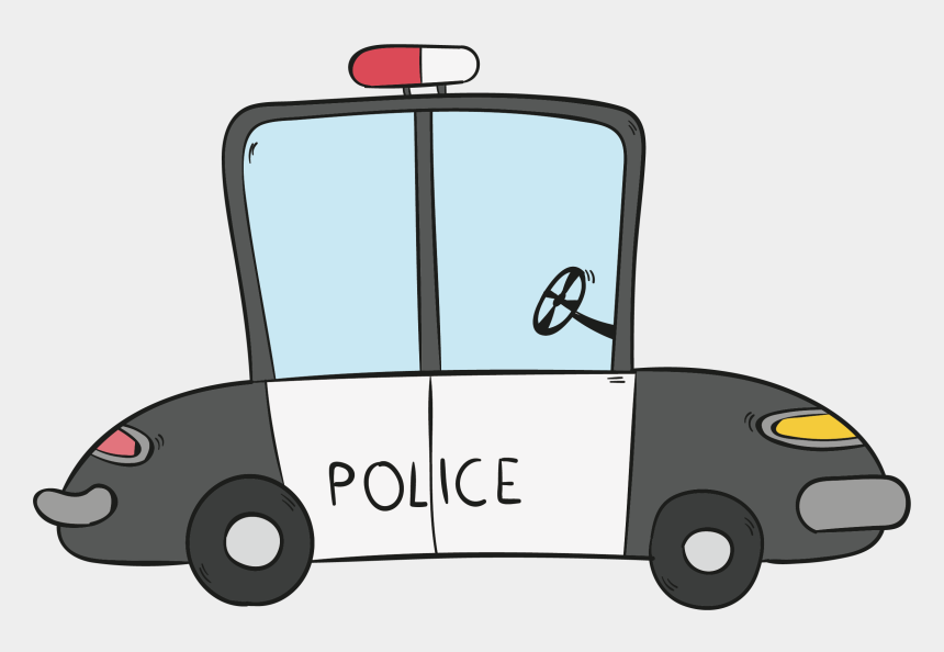 police car clipart, Cartoons - Clipart Library Car Download Hand Painted Police Transprent - Cop Car Cartoon Drawing
