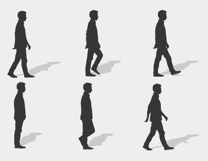 cycle clipart, Cartoons - Walking Silhouette Ms - Vector Man Walking