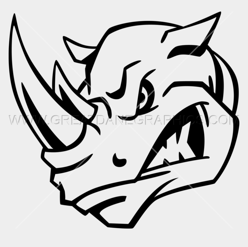 rhino clipart, Cartoons - Rhinos Drawing Line - Black And White Rhino Head