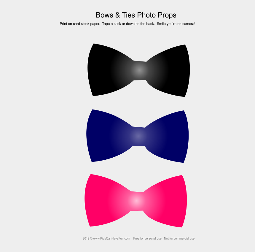 bow tie clipart, Cartoons - Boys Printable Photo Booth Props