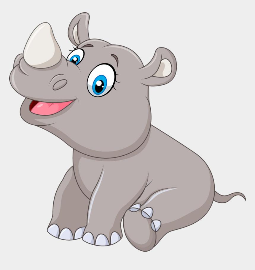 rhino clipart, Cartoons - Фото, Автор Soloveika На Яндекс - Cartoon Baby Rhino