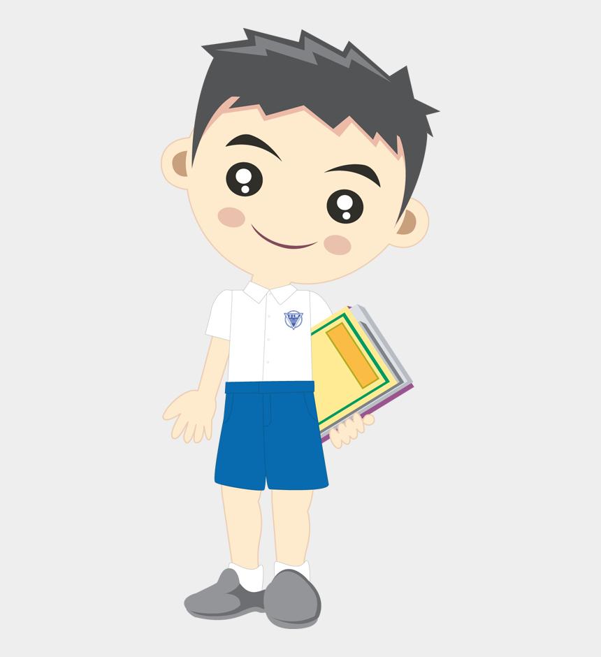 illustrator clip art library, Cartoons - Student Boy Clipart Png