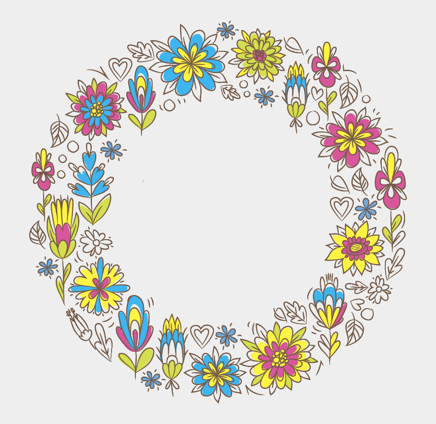 design doodles clipart, Cartoons - Mexican Flower Border Vector