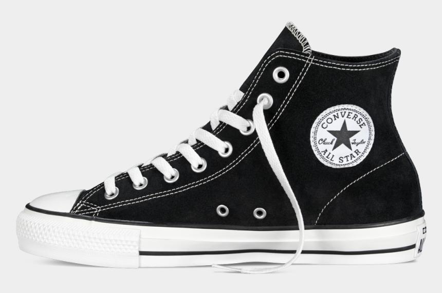 converse shoe free clip art, Cartoons - Converse Ctas Hi Black White