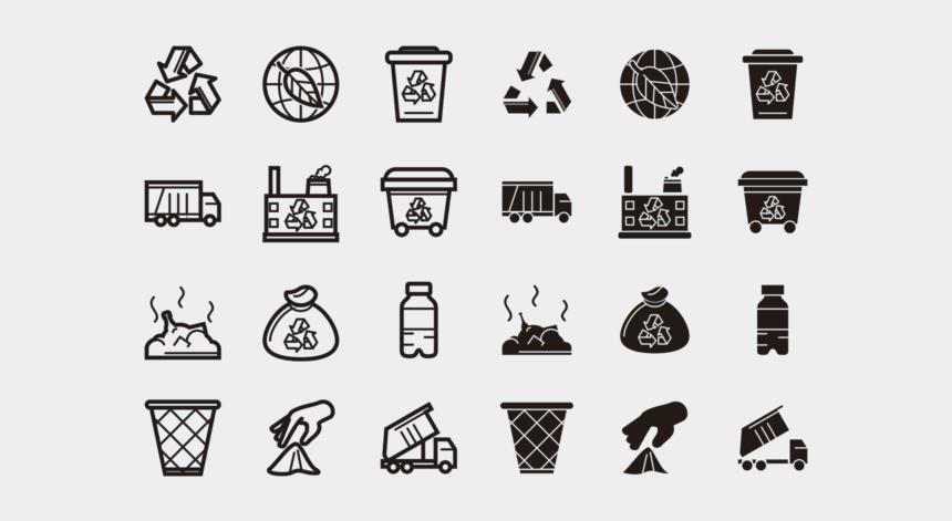 icon clip art icons, Cartoons - Landfill Vector